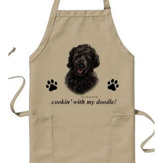 Goldendoodle Apron - Cookin (Black)