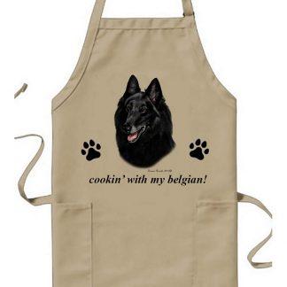 Belgian Sheepdog Apron - Cookin