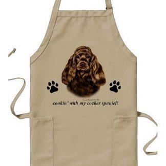 Chocolate Cocker Spaniel Apron - Cookin