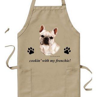 French Bulldog Apron - Cookin (White)