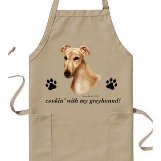 Greyhound Apron - Cookin (Fawn)
