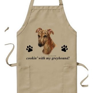 Greyhound Apron - Cookin (Red Brindle)