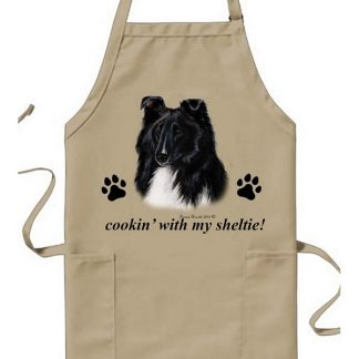 Bi Black Shetland Sheepdog Apron - Cookin