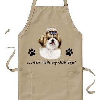 Shih Tzu Apron - Cookin (Gold)