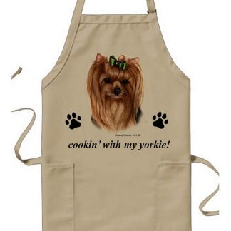 Yorkshire Terrier Apron - Cookin (Bow)