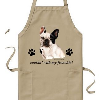 French Bulldog Apron - Cookin (Pied)