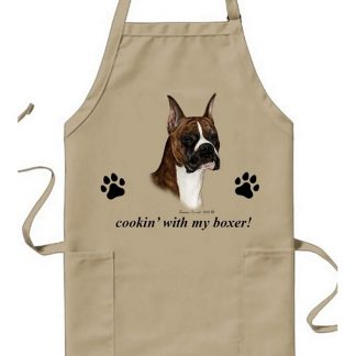 Boxer Apron - Cookin (Brindle Cropped)