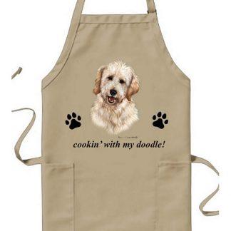 Goldendoodle Apron - Cookin (Blonde)