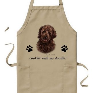 Goldendoodle Apron - Cookin (Chocolate)