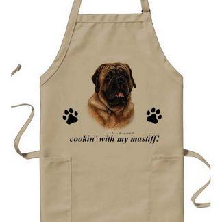 Mastiff Apron - Cookin (Red)