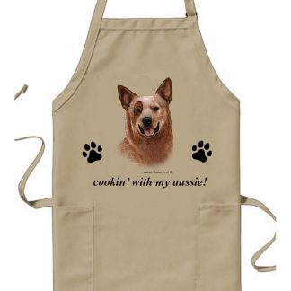 Australian Cattle Dog Apron - Cookin (Red)