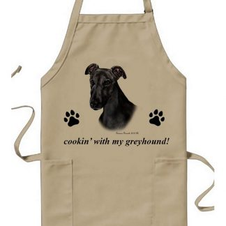 Greyhound Apron - Cookin (Black)