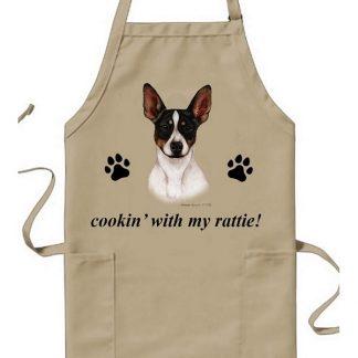 Rat Terrier Apron - Cookin (Tri)