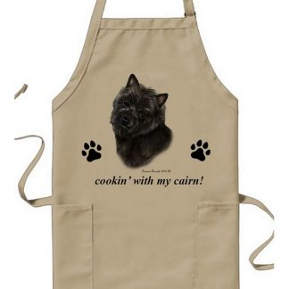 Cairn Terrier Apron - Cookin (Black)