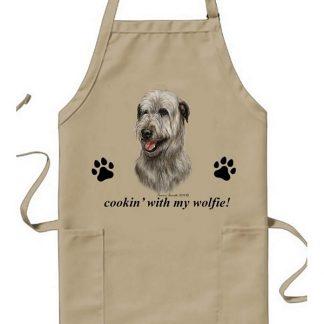 Irish Wolfhound Apron - Cookin (Gray)