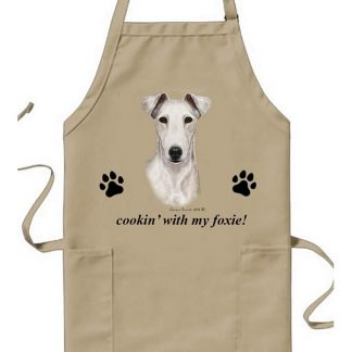 Smooth Fox Terrier Apron - Cookin (White)