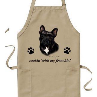 French Bulldog Apron - Cookin (Black White)