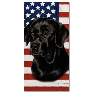 Black Lab Beach Towel - Patriotic