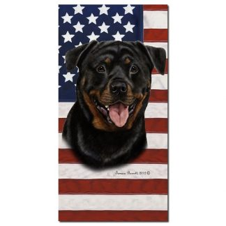 Rottweiler Beach Towel - Patriotic