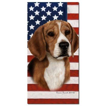 Beagle Beach Towel - Patriotic