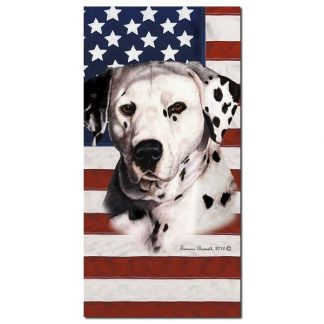 Dalmatian Beach Towel - Patriotic (Black)