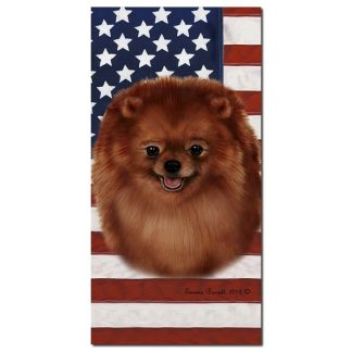 Pomeranian Beach Towel - Patriotic