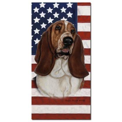 Basset Hound Beach Towel - Patriotic