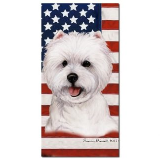 West Highland Terrier Beach Towel - Patriotic