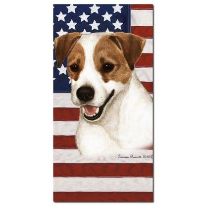 Jack Russell Terrier Beach Towel - Patriotic
