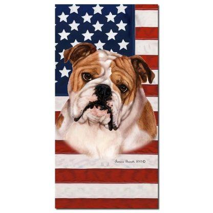 Bulldog Beach Towel - Patriotic