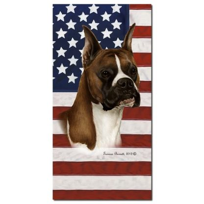 Boxer Beach Towel - Patriotic (Fawn)