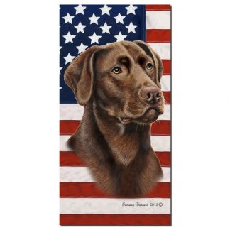 Chocolate Lab Beach Towel - Patriotic