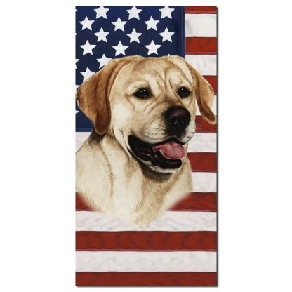 Yellow Lab Beach Towel - Patriotic