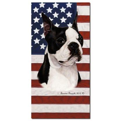Boston Terrier Beach Towel - Patriotic