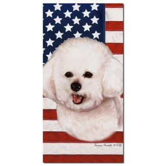 Bichon Frise Beach Towel - Patriotic
