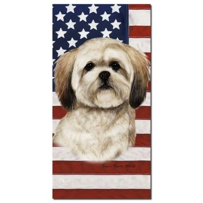 Lhasa Apso Beach Towel - Patriotic