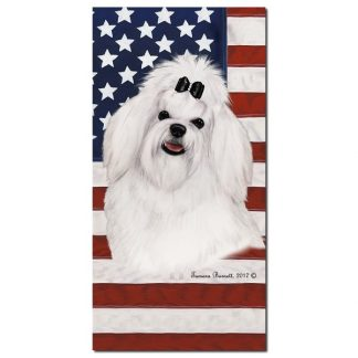Maltese Beach Towel - Patriotic