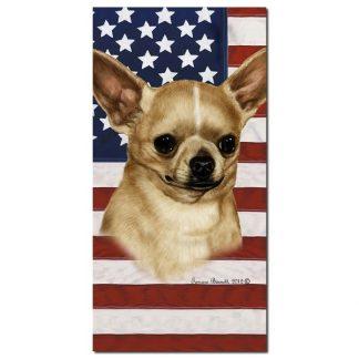 Chihuahua Beach Towel - Patriotic