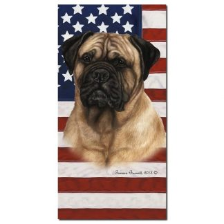 Bullmastiff Beach Towel - Patriotic
