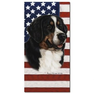 Bernese Mountain Dog Beach Towel - Patriotic