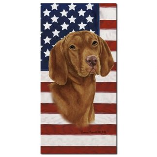 Vizsla Beach Towel - Patriotic