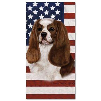 Cavalier Spaniel Beach Towel - Patriotic