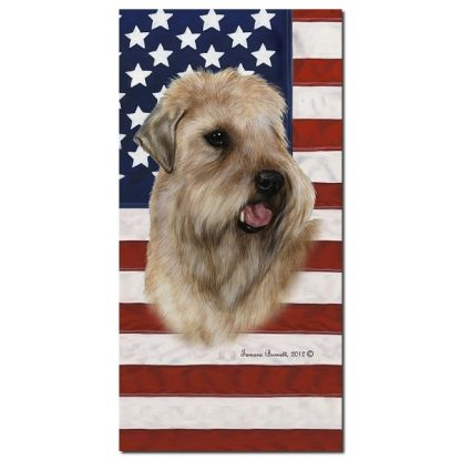 Soft Coated Wheaten Beach Towel - Patriotic