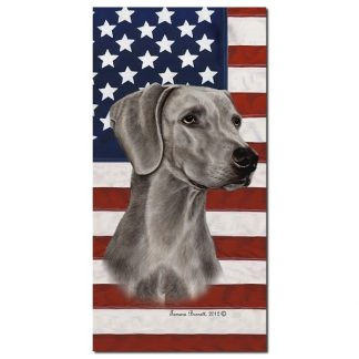 Weimaraner Beach Towel - Patriotic