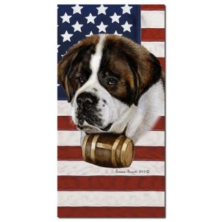 Saint Bernard Beach Towel - Patriotic