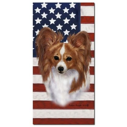 Papillon Beach Towel - Patriotic (Red)