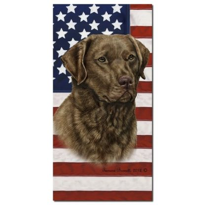 Chesapeake Bay Retriever Beach Towel - Patriotic