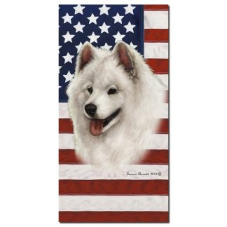 Samoyed Beach Towel - Patriotic