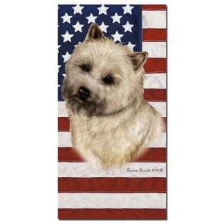 Cairn Terrier Beach Towel - Patriotic (Wheaten)