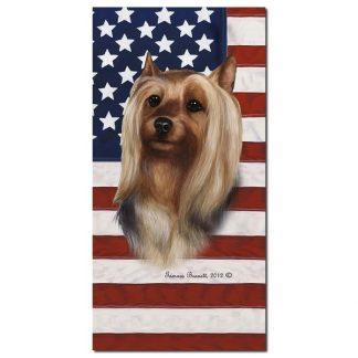 Silky Terrier Beach Towel - Patriotic